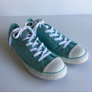 Converse All Stars Sparkly Turquoise Sneakers